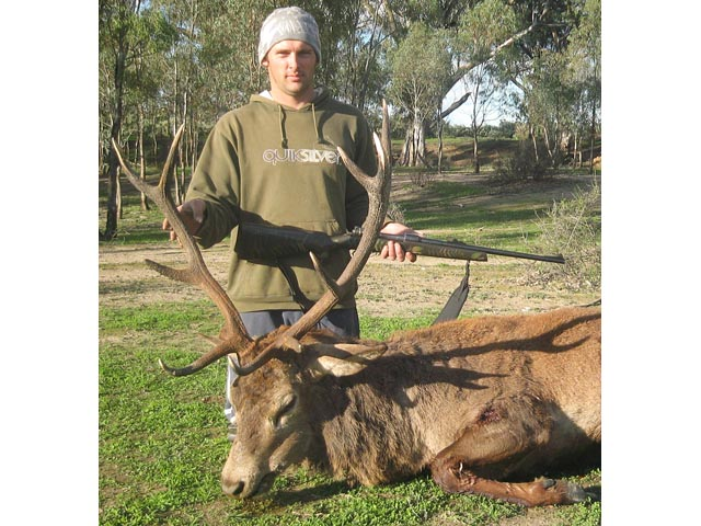 Mr Glen McDonald Victoria And Red Deer Taken With Woodleigh 308 150gr Weldcore Protected Point Soft Nose Bullet
