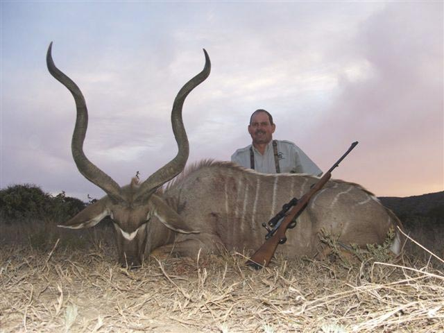 Mr John Murdoch And Kudu Taken With FN Mauser And Woodleigh 366 286gr Weldcore Protected Point Soft Nose Bullet